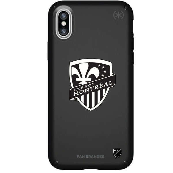 Speck Black Presidio Series Phone case with Montreal Impact Primary Logo in Black and White