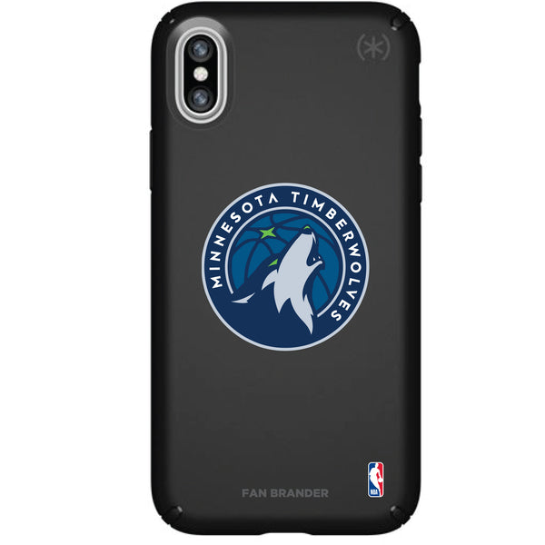 Speck Black Presidio Series Phone case with Minnesota Timberwolves Primary Logo