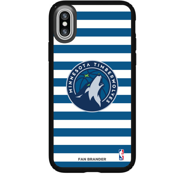 Speck Black Presidio Series Phone case with Minnesota Timberwolves Striped Design