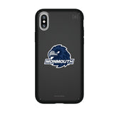 Speck Black Presidio Series Phone case with Monmouth Hawks Primary Logo