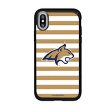 Speck Black Presidio Series Phone case with Montana State Bobcats Primary Logo and Striped Design