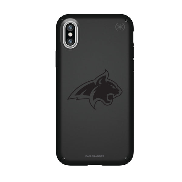 Speck Black Presidio Series Phone case with Montana State Bobcats Primary Logo in Black