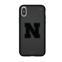 Speck Black Presidio Series Phone case with Nebraska Cornhuskers Primary Logo in Black