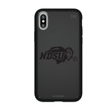 Speck Black Presidio Series Phone case with North Dakota State Bison Primary Logo in Black