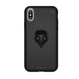 Speck Black Presidio Series Phone case with New Mexico Lobos Primary Logo in Black