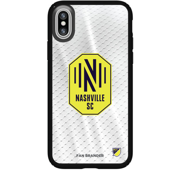 Speck Black Presidio Series Phone case with Nashville SC Primary Logo with Jersey design