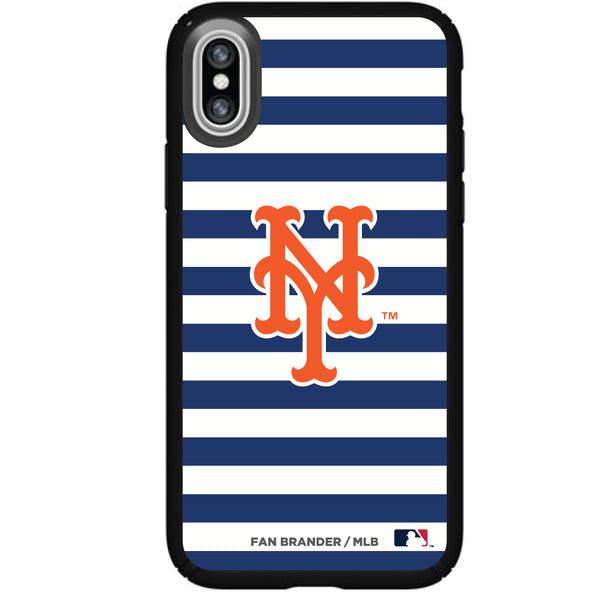 Speck Black Presidio Series Phone case with New York Mets Striped Design