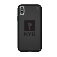 Speck Black Presidio Series Phone case with NYU Primary Logo in Black
