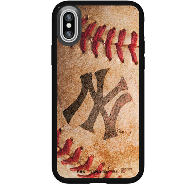 Speck Black Presidio Series Phone case with New York Yankees Primary Logo with Baseball Design