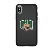 Speck Black Presidio Series Phone case with Ohio University Bobcats Primary Logo