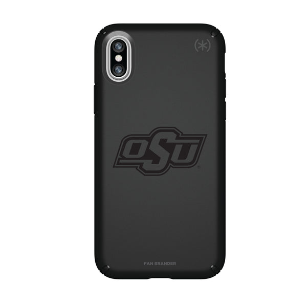 Speck Black Presidio Series Phone case with Oklahoma State Cowboys Primary Logo in Black