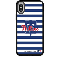 Speck Black Presidio Series Phone case with Philadelphia Phillies Striped Design