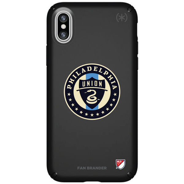 Speck Black Presidio Series Phone case with Philadelphia Union Primary Logo