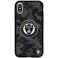 Speck Black Presidio Series Phone case with Philadelphia Union Urban Camo Background