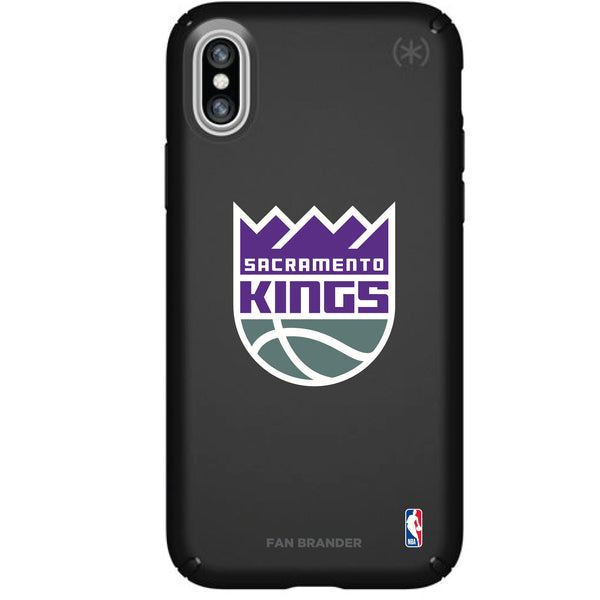 Speck Black Presidio Series Phone case with Sacramento Kings Primary Logo