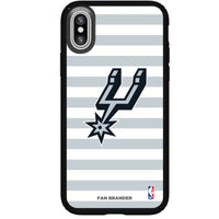 Speck Black Presidio Series Phone case with San Antonio Spurs Striped Design