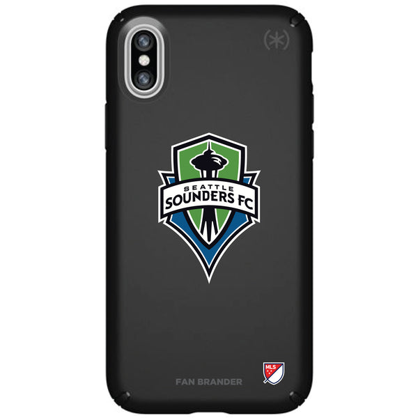 Speck Black Presidio Series Phone case with Seatle Sounders Primary Logo