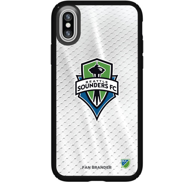 Speck Black Presidio Series Phone case with Seatle Sounders Primary Logo with Jersey design