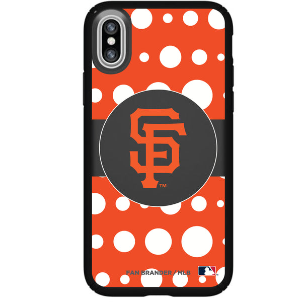Speck Black Presidio Series Phone case with San Francisco Giants Primary Logo with Polka Dots