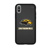 Speck Black Presidio Series Phone case with Southern Mississippi Golden Eagles Primary Logo