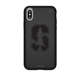 Speck Black Presidio Series Phone case with Stanford Cardinal Primary Logo in Black
