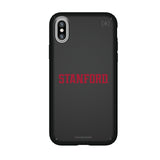 Speck Black Presidio Series Phone case with Stanford Cardinal Secondary Logo