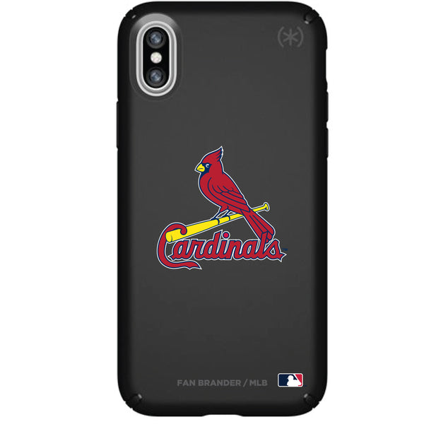 Speck Black Presidio Series Phone case with St. Louis Cardinals Primary Logo