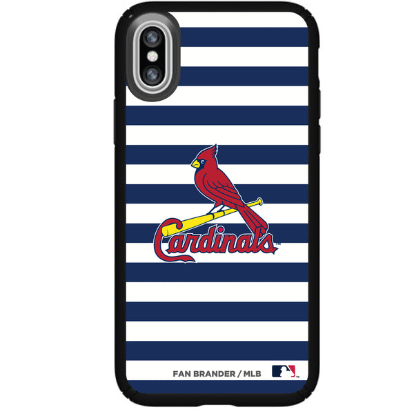 Speck Black Presidio Series Phone case with St. Louis Cardinals Striped Design
