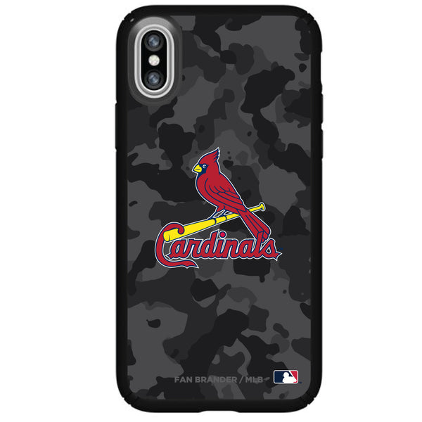 Speck Black Presidio Series Phone case with St. Louis Cardinals Urban Camo design