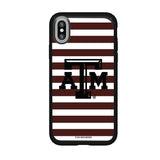 Speck Black Presidio Series Phone case with Texas A&M Aggies Primary Logo and Striped Design