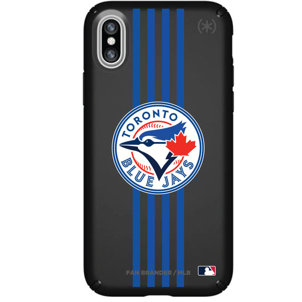 Speck Black Presidio Series Phone case with Toronto Blue Jays Primary Logo with Vertical Stripes