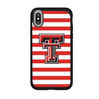 Speck Black Presidio Series Phone case with Texas Tech Red Raiders Primary Logo and Striped Design