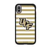Speck Black Presidio Series Phone case with UCF Knights Primary Logo and Striped Design