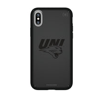 Speck Black Presidio Series Phone case with Northern Iowa Panthers Primary Logo in Black