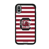 Speck Black Presidio Series Phone case with South Carolina Gamecocks Primary Logo and Striped Design