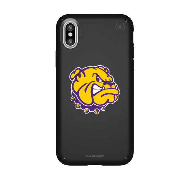 Speck Black Presidio Series Phone case with Western Illinois University Leathernecks Secondary Logo