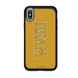 Speck Black Presidio Series Phone case with West Virginia State Univ Yellow Jackets Wordmark Design