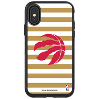 OtterBox Black Phone case with Toronto Raptors Primary Logo and Striped Design