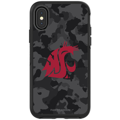 OtterBox Black Phone case with Washington State Cougars Urban Camo background