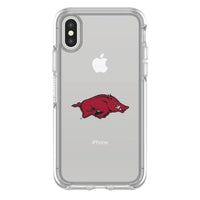 OtterBox clear Phone case with Arkansas Razorbacks Primary Logo