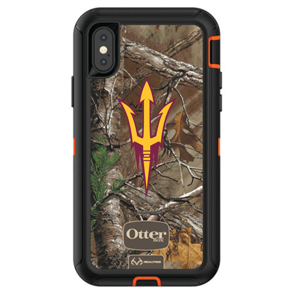 OtterBox RealTree Defender Series Phone case with Arizona State Sun Devils Primary Logo