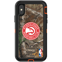 OtterBox RealTree Defender Series Phone case with Atlanta Hawks Primary Logo