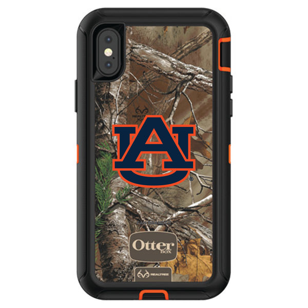 OtterBox RealTree Defender Series Phone case with Auburn Tigers Primary Logo