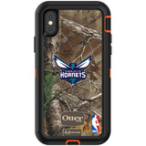 OtterBox RealTree Defender Series Phone case with Charlotte Hornets Primary Logo