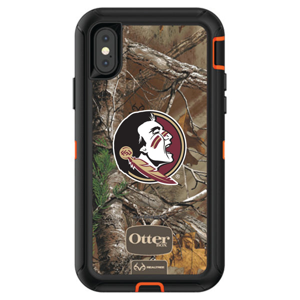OtterBox RealTree Defender Series Phone case with Florida State Seminoles Primary Logo