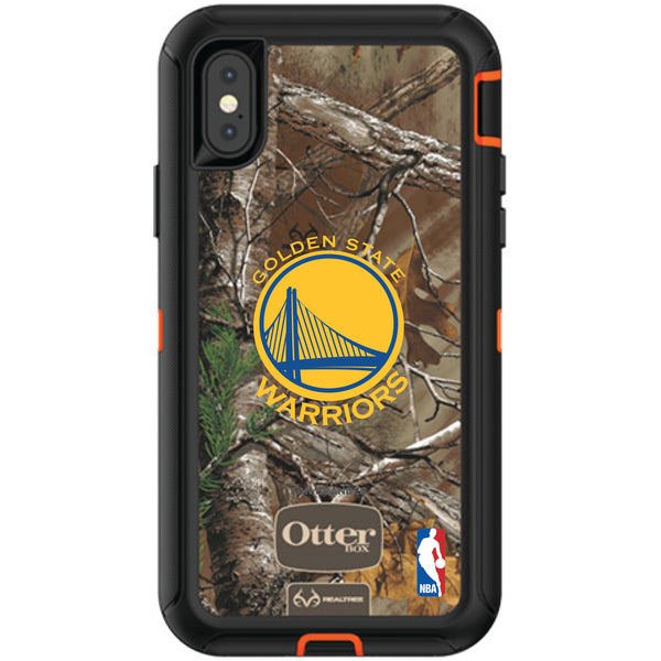 OtterBox RealTree Defender Series Phone case with Golden State Warriors Primary Logo