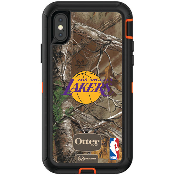 OtterBox RealTree Defender Series Phone case with LA Lakers Primary Logo