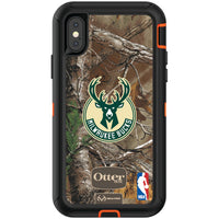 OtterBox RealTree Defender Series Phone case with Milwaukee Bucks Primary Logo