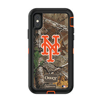 OtterBox RealTree Defender Series Phone case with New York Mets Primary Logo