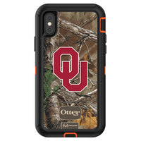 OtterBox RealTree Defender Series Phone case with Oklahoma Sooners Primary Logo